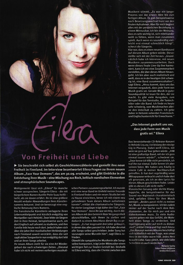 Eilera Face Your Demons Sonic Seducer interview